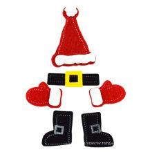 Calcomanías de fieltro de Navidad accesorios artesanales de bricolaje, regalo y artesanía para niños, arte creativo artesanal accesorio de Navidad hecho a mano