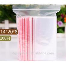 Ziplock Bolsas de plástico para la tarjeta de regalo de la joyería Candy