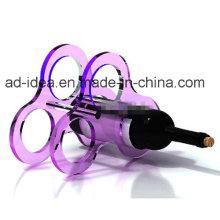 Rack de suporte acrílico de design criativo / Display Stand / Banner de vinho