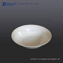 Tazón de ensalada de china de hueso blanco puro para el café de restaurante reutilizable