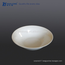 pure white bone china salad bowl for restaurant cafe reusable