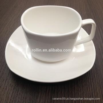 Italiano Design Square Coffee Cup, Taça De Cerâmica Para Hotel E Restaurante, Caixas Dotado Permitido Cup