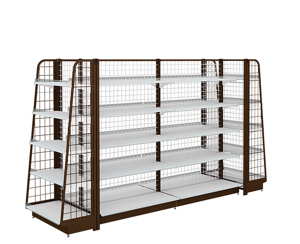 Kedai Serbaguna Display Double-Sided Shelf