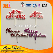 Plastic Merry Christmas Words Decoration
