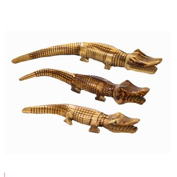 mejor venta de animales de madera para niños, cocodrilo de madera