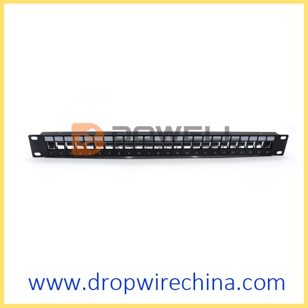 1U 24 port High-density blank patch panel