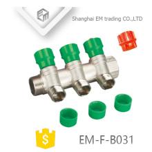 EM-F-B031 Manifold de latão de níquel de 3 vias de alta qualidade