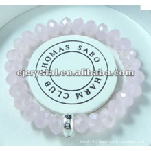 Pink Crystal Bracelet For Gift