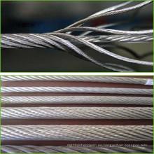 7x19 acero galvanizado precio de cable de acero inoxidable
