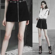 OPQ-404 PUNK RAVE  Handsome Metal Chain Half Skirt ladies punk skirt