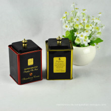 Beliebte quadratische Metall-Tee Blechdose / Zinn / Kaffee Zinn-Box