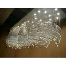 2015 nuevo diseño Hotel Crystal Techo de la lámpara