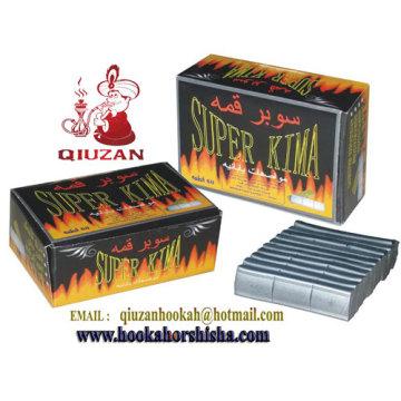 Cuadrado plata cachimba carbón de leña de Shisha