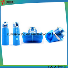 2016 New design portable collapsible silicone bottle