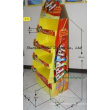 Présentoir de papier de sucrerie, présentoir de plancher de carton de Sweetmeats (B & C-A079)