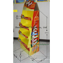 Candy Paper Display Stand, Sweetmeats Cardboard Floor Display Stand (B&C-A079)
