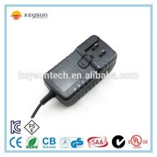 Auswechselbare Steckernetzteil 12v 2.5a für LED-Licht cctv Kamera