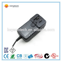 Adaptateur d'alimentation interchangeable 12v 2.5a pour caméra cctv à lumière led