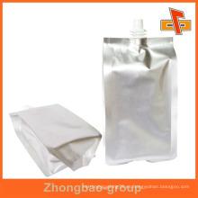 Stand up papel de aluminio bolsa de vino con pico para el té de limón 100ml 200ml