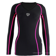 Stock Women Rash Guard Nylon Spandex SRC-101
