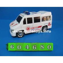 O novo brinquedo de plástico de carro de atrito ambulância (604680)
