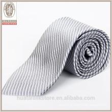 Grossiste couleur tissé concepteur marques personnalisées cravates en soie