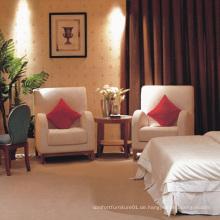 Wooden & Fabric Freizeit Stuhl Hotel Schlafzimmer Stuhl (EMT-A0689A)
