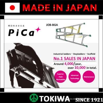 PiCa Multifunktions- / Mehrzweckleiter und Stehleiter mit hervorragender Haltbarkeit. Made in Japan (Leiter teleskopisch)
