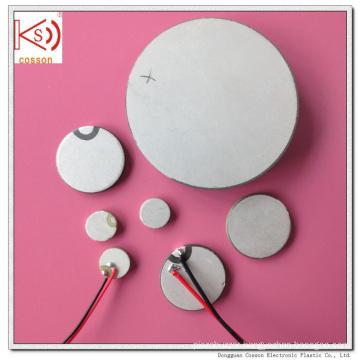 Pzt Customized Ultrasonic Sensor 20mm 3MHz Ceramic Piezo Element