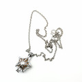 Star Star Locket Cage Hold Pearl Bead Necklace