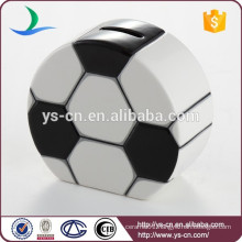 Cute money box ceramic Football for gifts