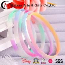 Glow Narrow Wristband / Glowing Silicone Rubber Bands/Soft Silicone Wristband