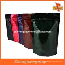 Pure color print ziplock aluminium foil bag for coffee packing