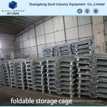 Cage pliante de treillis métallique d'entrepôt