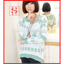 ladies mohair sweater jacquard knit sweater christmas