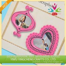 Мини металла Фоторамки для пары/прекрасный розовый фото рамка