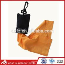 Teléfono del keychain del microfiber, paño de limpieza de cristal, paño del microfiber para la promoción