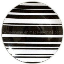 Prato de jantar de melamina de 8 polegadas com logotipo