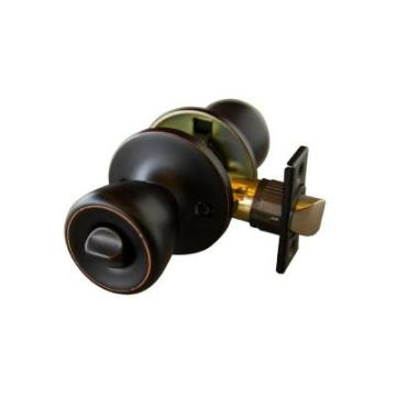 Bronze Privacy Knob with Universal 6-Way Latch