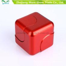 Metal Alloy Cube Dice EDC Fidget Hand Finger Spinner Fingertips Gyro Toys