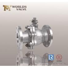 Válvula de bola de acero Steinless de dos piezas