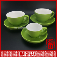 Small straight ceramic fine royal porcelain tea/coffee cup and saucer