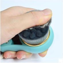 Brosse de nettoyage de visage noir en silicone à chaud