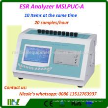 Laborausrüstung ESR-Ausrüstung ESR Analyzer Preis / Blutdynamischer ESR-Analysator MSLPUC-A