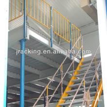 Plataforma de mezanino de prateleira de aço de venda quente de paletes de metal resistente