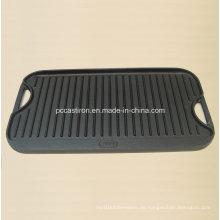 Gusseisen-Bratpfanne mit vorgewärmter Beschichtung genehmigt von LFGB, Ce, FDA, SGS