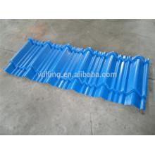 Tuile de toit en acier trapézoïdal bleu clair Gavanized Cheap Clear Sheet