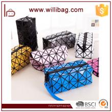Saco cosmético feito sob encomenda do saco cosmético do armazenamento do organizador das senhoras da caixa do zíper