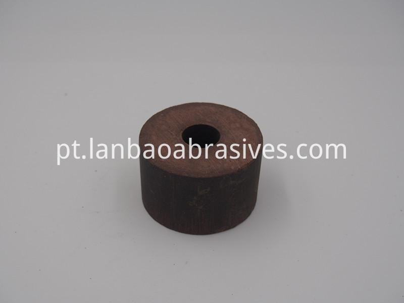 detail of small BD polishing wheel for hole