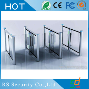 Gym Semi-Automatic Glass Turnstile Card Collector